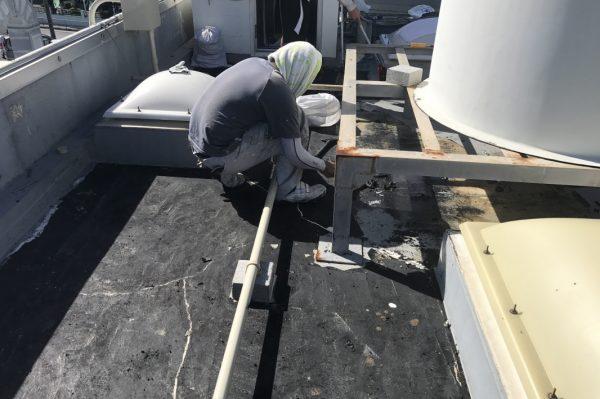 屋上防水体験作業